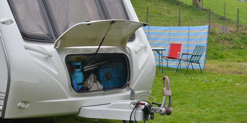 Loading Caravan in Park