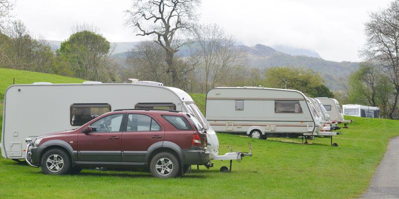 Caravan Towing at Caravan Park