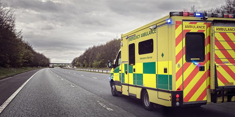 Ambulance On Motorway