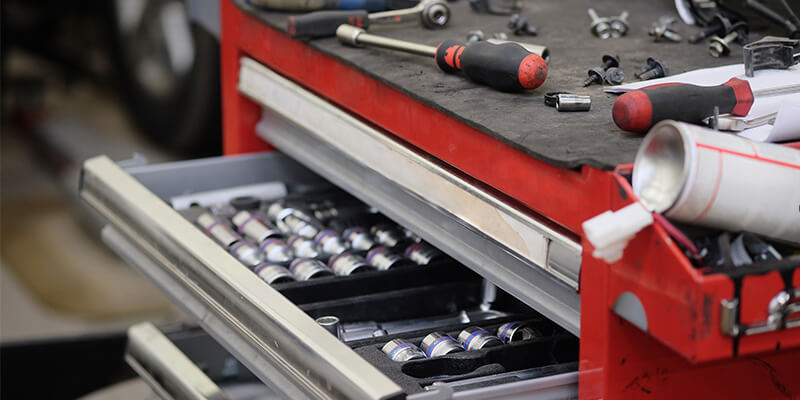 car garage tool box