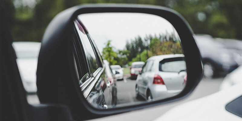 Cars In A Wing Mirror
