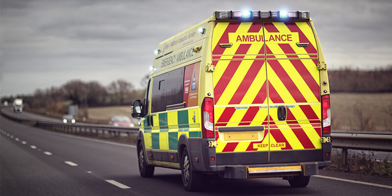 Ambulance In Stormy Weather