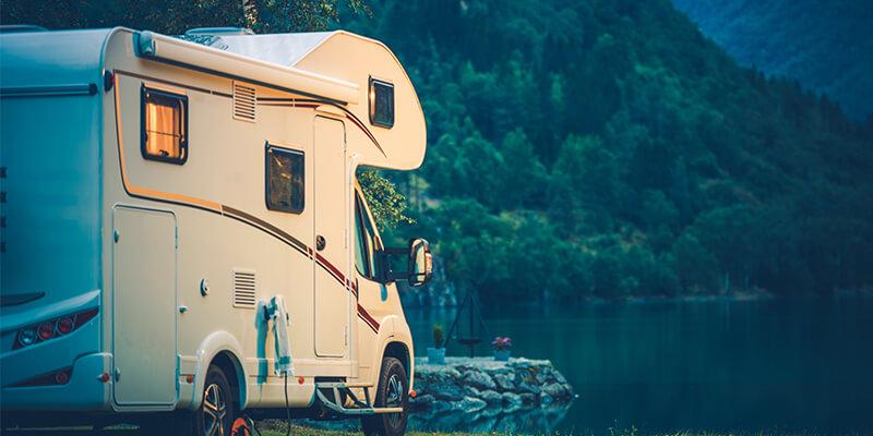Caravan by The Lake