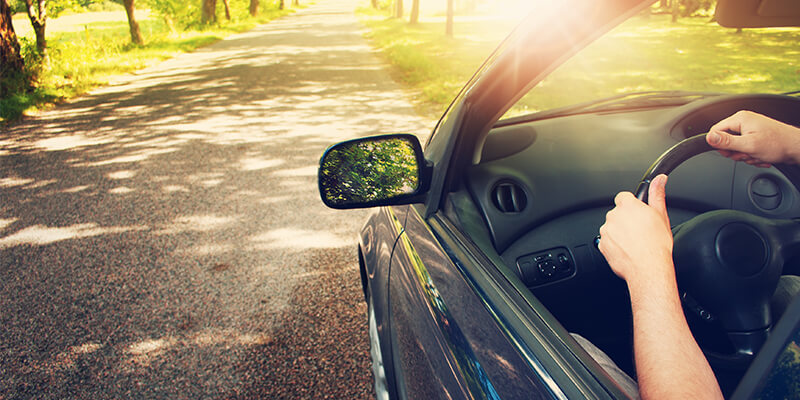 Sun Glare On Car