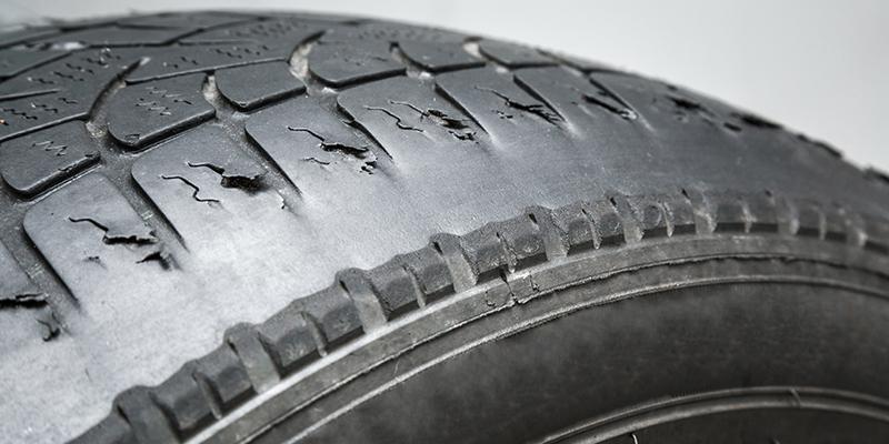Cracked Tyre