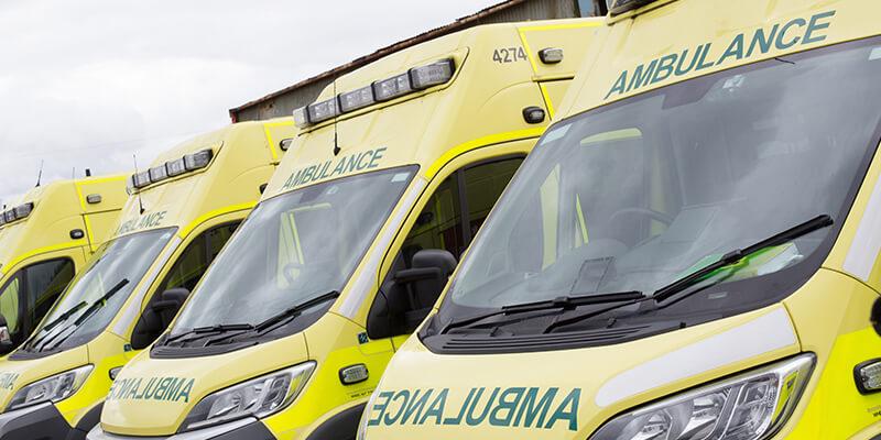Ambulance Lined Up