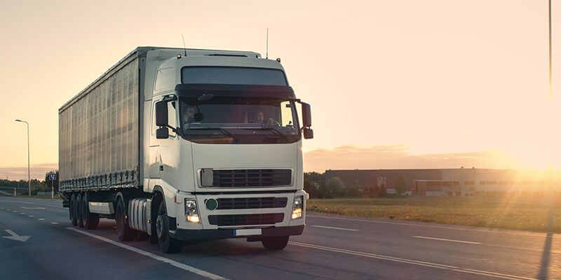 lorry on open road
