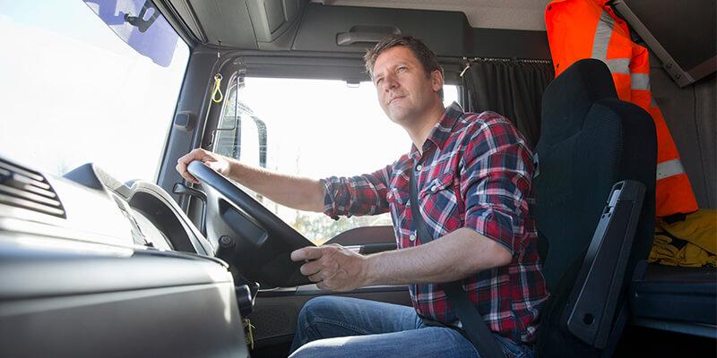 man driving lorry